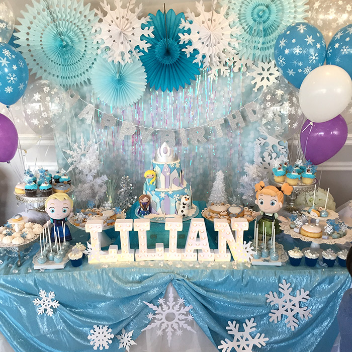Lilian S Frozen Themed 3rd Birthday Party Mini Licious