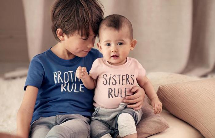 H&M Kids Siblings Tees