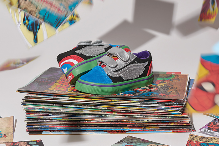 Vans x Marvel's Avengers Kids Collection mini:licious by