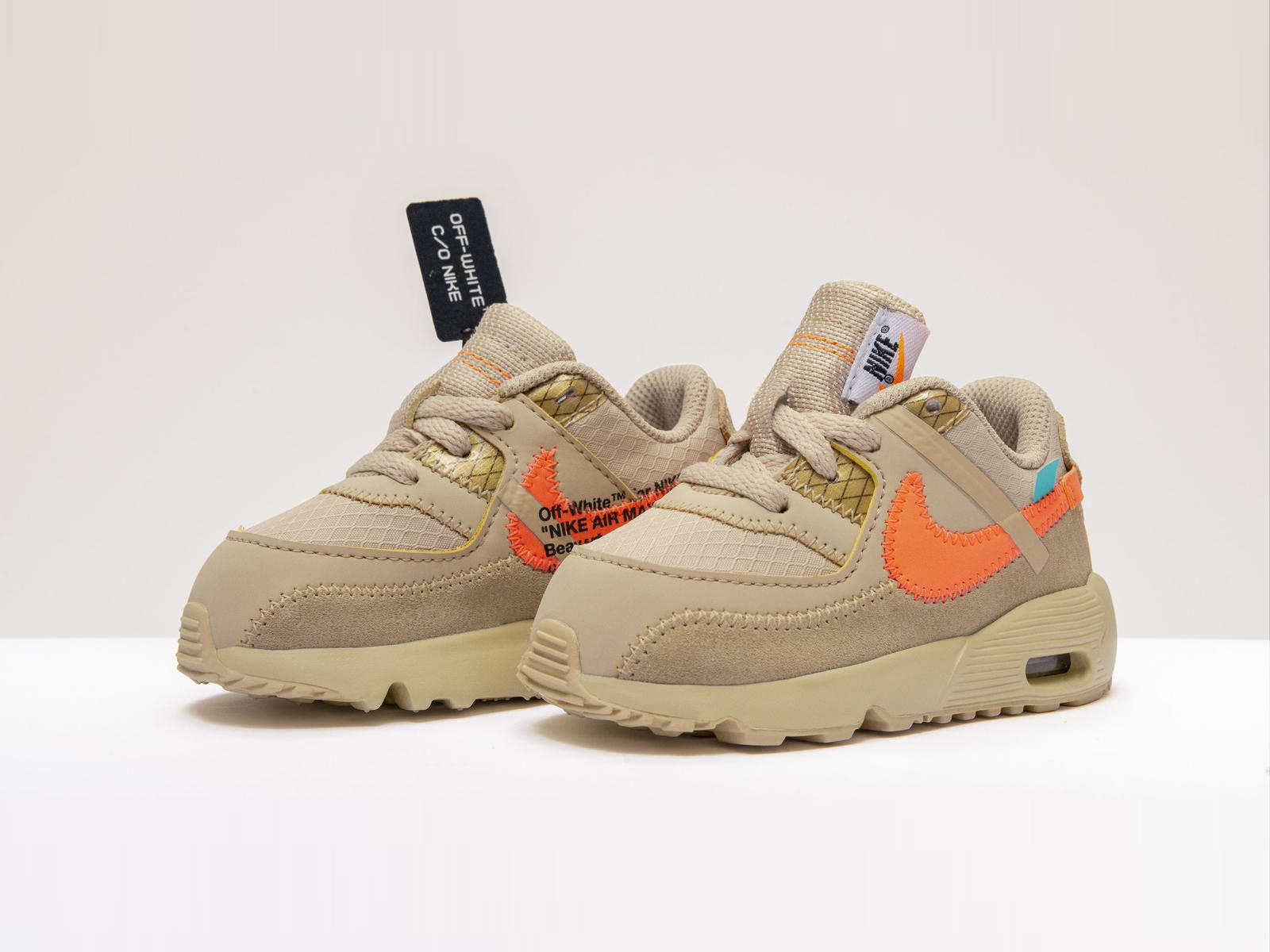 The Off-White x Nike Air Max 90s Are Arriving In Toddler Sizes
