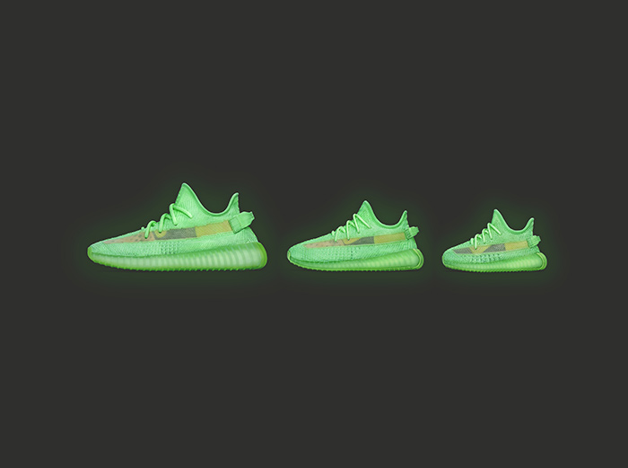 "adidas Extends The Yeezy Boost 350 v2 ""Glow"" Family With Kids and Infants Sizes"